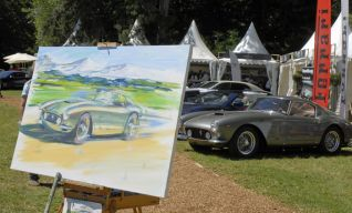 Une Ferrari, un tableau.
